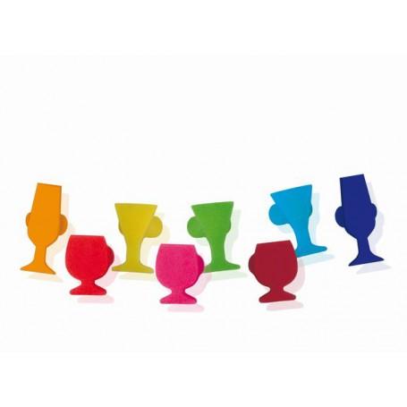MARCADORES COPAS (8PCS) GLASS MARKET
