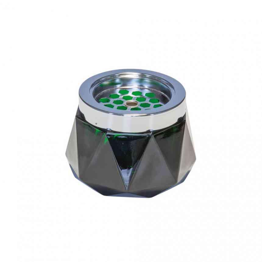 CENICERO DIAMOND 12CM VERDE