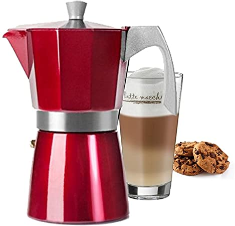 CAFETERA EXPRESS 2 TAZAS EVVA RED