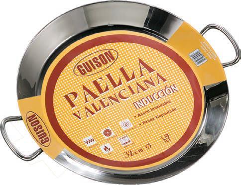 PAELLERA INOX 28CM GUISON INDUCCION
