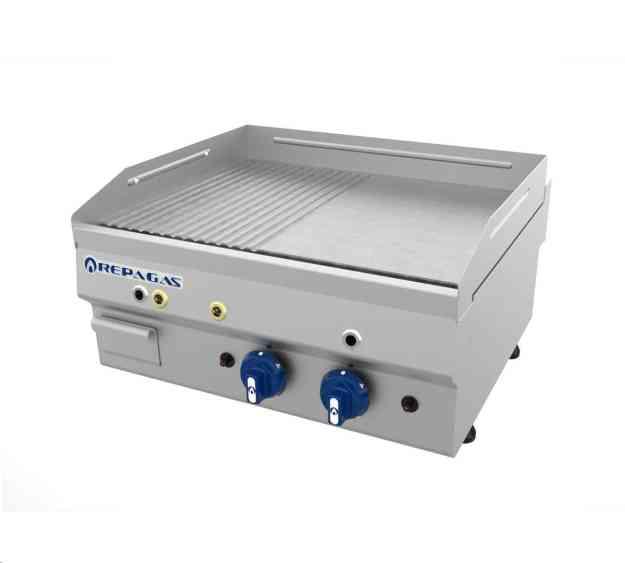 PLANCHA GAS PG-650/CDLR CROMO DURO